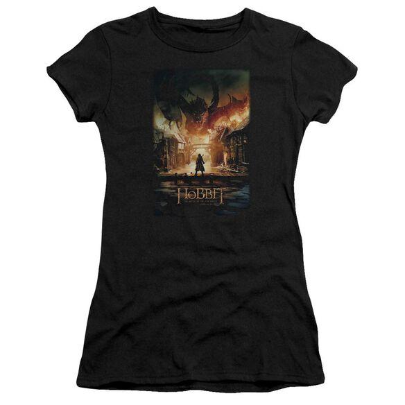 Hobbit Smaug Poster Short Sleeve Junior Sheer T-Shirt