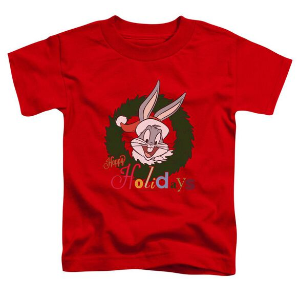 Looney Tunes Holiday Bunny Short Sleeve Toddler Tee Red T-Shirt