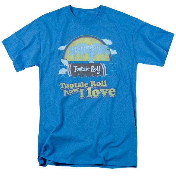 Tootsie Roll Jingle Short Sleeve Adult Turquoise T-Shirt