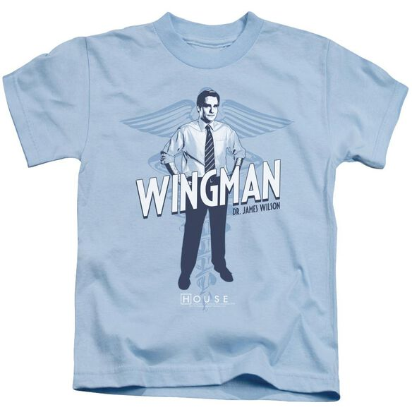 House Wingman Short Sleeve Juvenile Light Blue Md T-Shirt