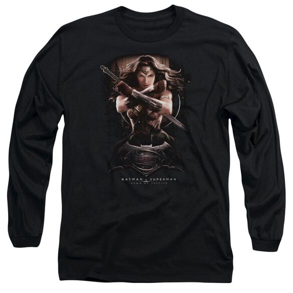 Batman V Superman Ww Ground Zero Long Sleeve Adult T-Shirt
