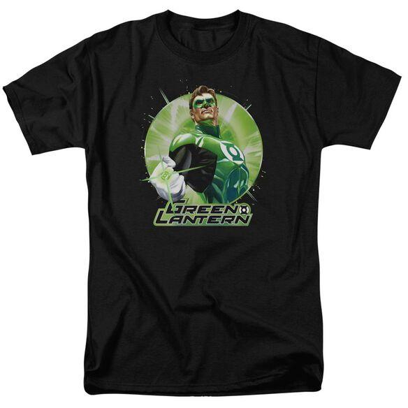 Jla Green Static Short Sleeve Adult T-Shirt