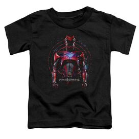 Power Rangers Red Ranger Short Sleeve Toddler Tee Black T-Shirt