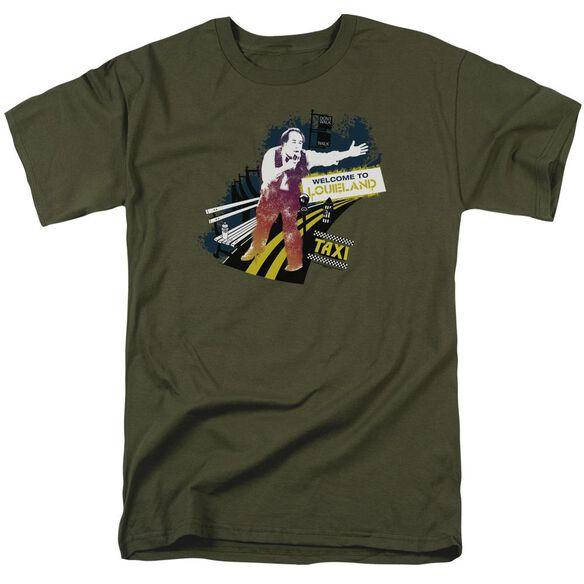 Taxi Louieland Short Sleeve Adult Military Green T-Shirt