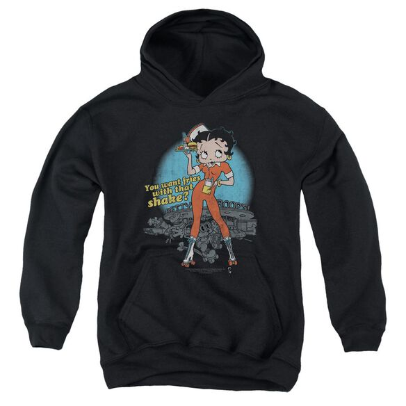 Betty Boop Fries With That Youth Pull Over Hoodie