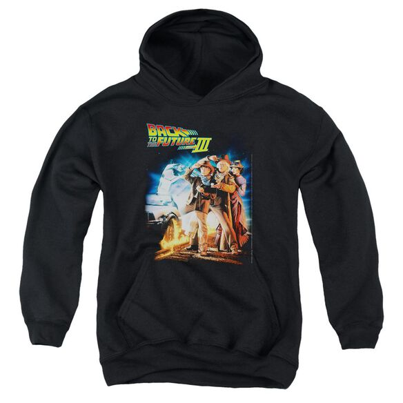 Back To The Future Iii Poster Youth Pull Over Hoodie