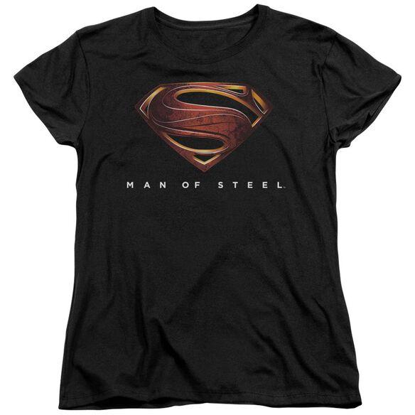 Man Of Steel Mos New Logo Short Sleeve Women's Tee T-Shirt