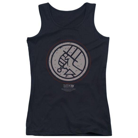 Hellboy Ii Mignola Style Logo Juniors Tank Top