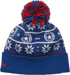 Captain America Logo Sweater Chill Pom Beanie