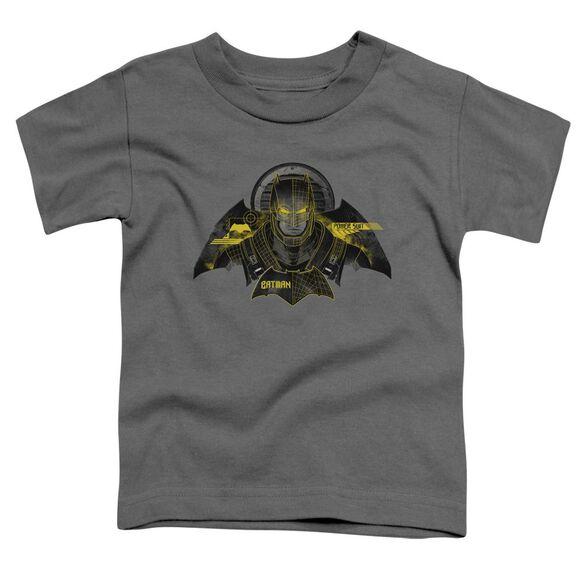 Batman V Superman Batman Tech Short Sleeve Toddler Tee Charcoal T-Shirt