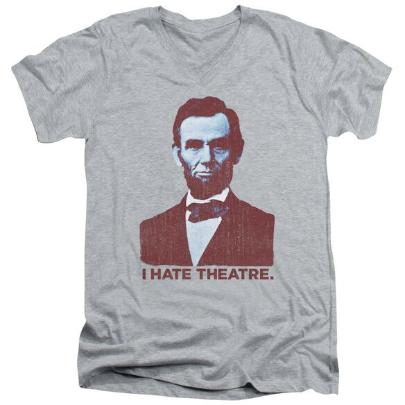 Abe Theatre Short Sleeve Adult V Neck Athletic T-Shirt