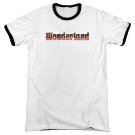 Zenescope Wonderland Logo Adult Ringer White Black