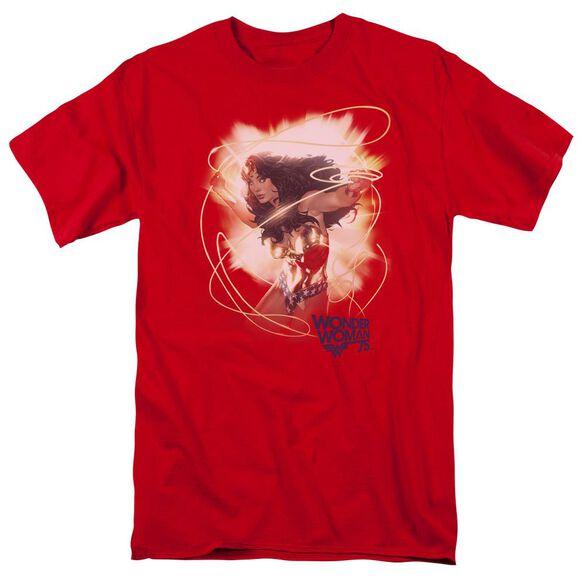 Wonder Woman 75 Th Burst Short Sleeve Adult T-Shirt