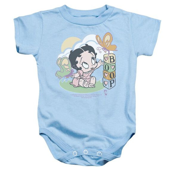 Betty Boop Blue Butterflies Infant Snapsuit Light Blue Sm