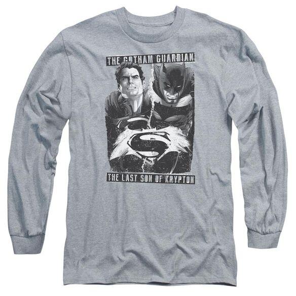 Batman V Superman Guardian V Son Long Sleeve Adult Athletic T-Shirt