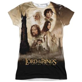 Lor Towers Poster Short Sleeve Junior Poly Crew T-Shirt