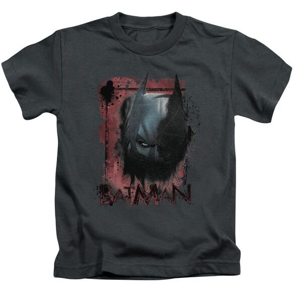 Dark Knight Rises Fear Me Short Sleeve Juvenile Charcoal Md T-Shirt
