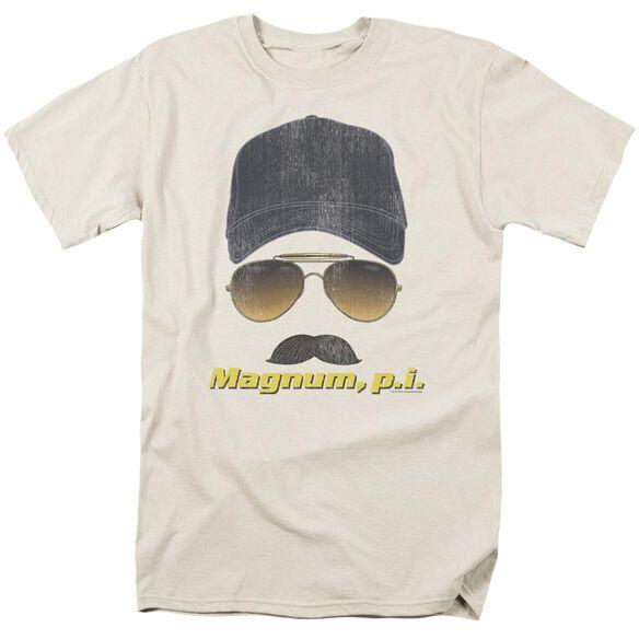Magnum Pi Geared Up Short Sleeve Adult Cream T-Shirt