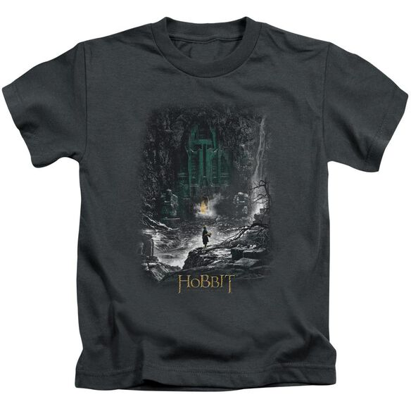 Hobbit Second Thoughts Short Sleeve Juvenile Charcoal T-Shirt