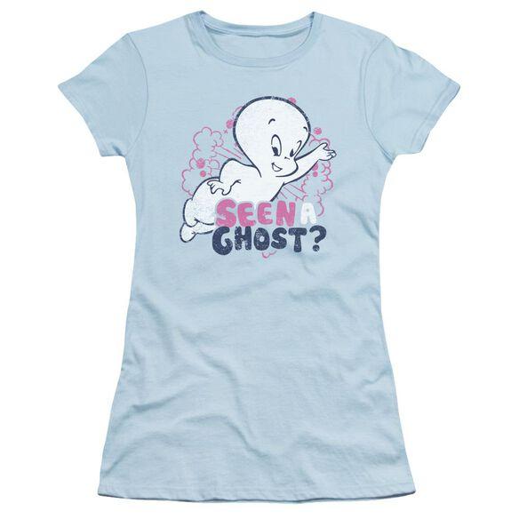 Casper Seen A Ghost Short Sleeve Junior Sheer Light T-Shirt
