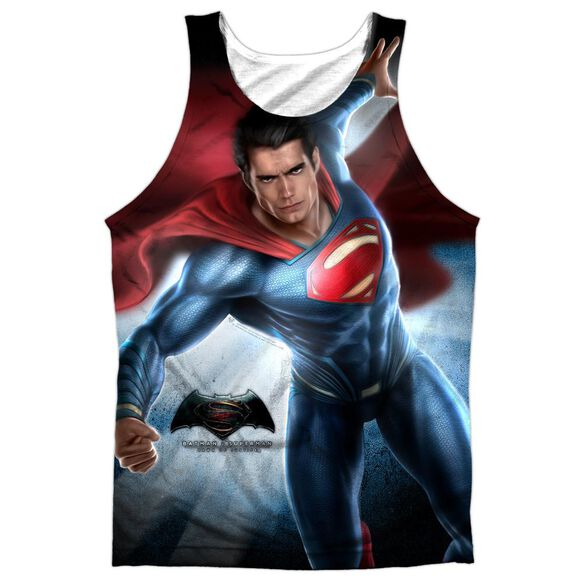 Batman V Superman Superman Light Adult Poly Tank Top