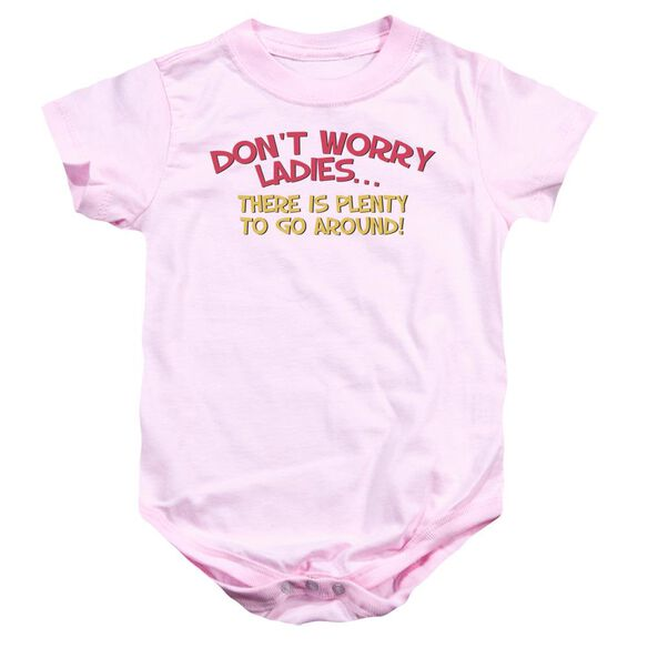Don't Worry Infant Snapsuit Pink Lg