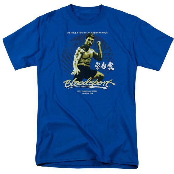 Bloodsport American Ninja Short Sleeve Adult Royal T-Shirt