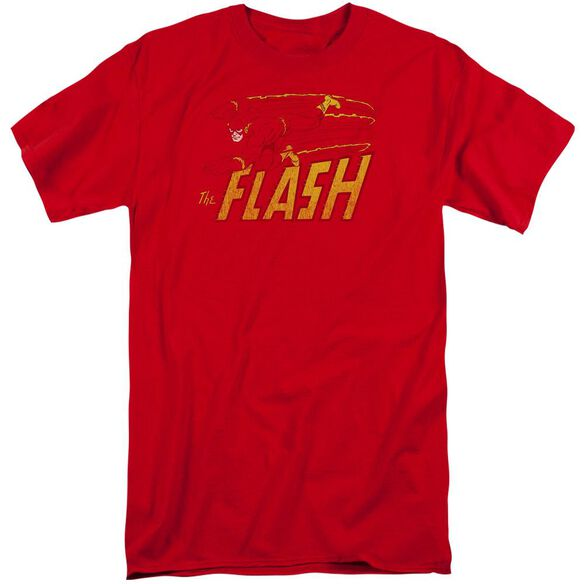 Dc Flash Speed Distressed Short Sleeve Adult Tall T-Shirt
