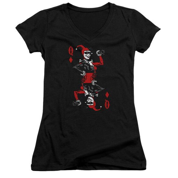 Batman Quinn Of Diamonds Junior V Neck T-Shirt