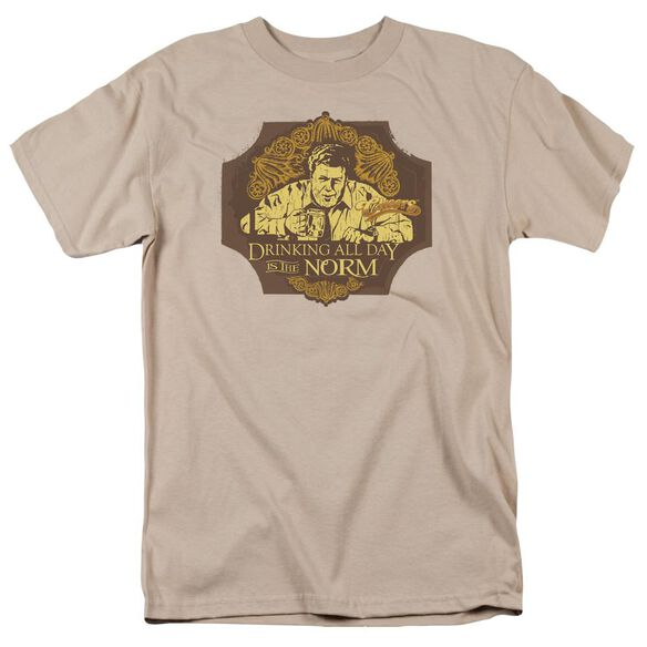 Cheers The Norm Short Sleeve Adult Sand T-Shirt