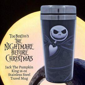 Disney Nightmare Before Christmas Jack Skellington Travel Mug 16 Oz