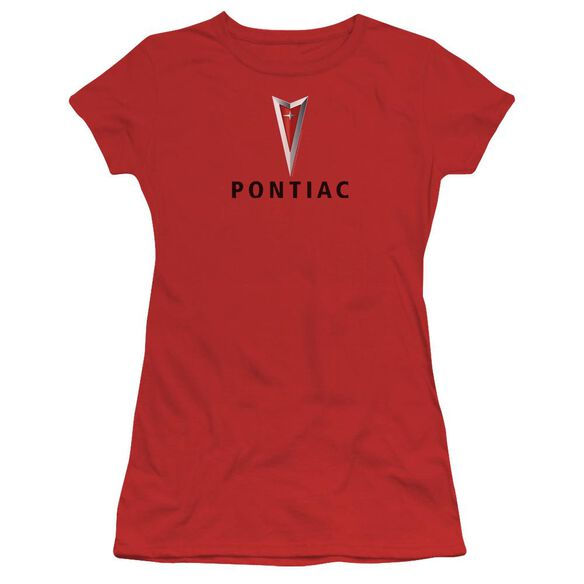 Pontiac Centered Arrowhead Short Sleeve Junior Sheer T-Shirt