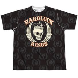 Hardluck Kings Pattern Short Sleeve Youth Poly Crew T-Shirt