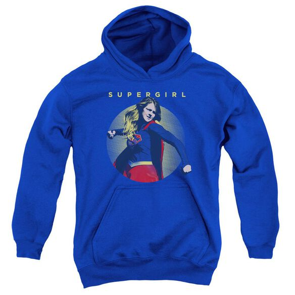 Supergirl Classic Hero Youth Pull Over Hoodie Royal