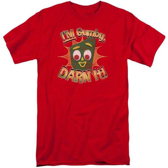 Gumby Darn It Short Sleeve Adult Tall T-Shirt