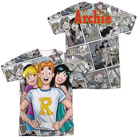 Archie Comics Archie And Gals (Front Back Print) Short Sleeve Adult Poly Crew T-Shirt