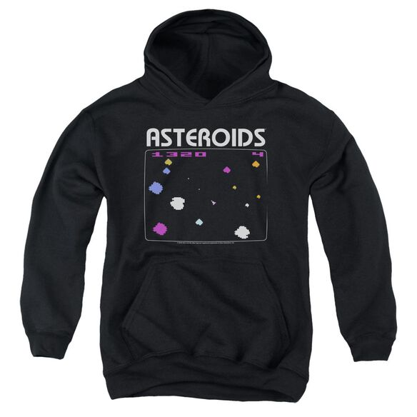 Atari Asteroids Screen Youth Pull Over Hoodie