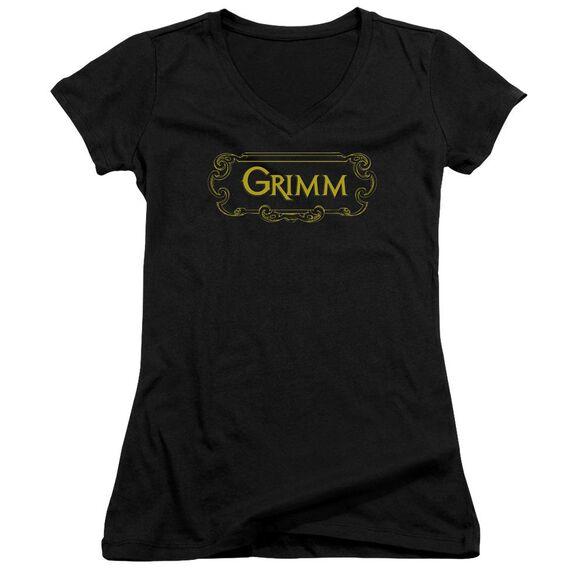 Grimm Plaque Logo Junior V Neck T-Shirt