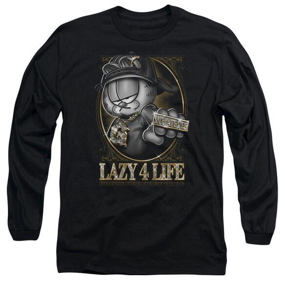 GARFIELD LAZY 4 LIFE - L/S ADULT 18/1 - BLACK T-Shirt