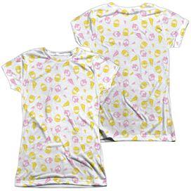 Power Rangers Grl Pwr (Front Back Print) Short Sleeve Junior Poly Crew T-Shirt