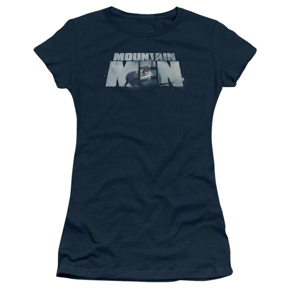 Mountain Men Live For A Living Short Sleeve Junior Sheer T-Shirt