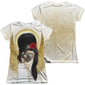 Pets Rock Tattoo Angel (Front Back Print) Short Sleeve Junior Poly Crew T-Shirt