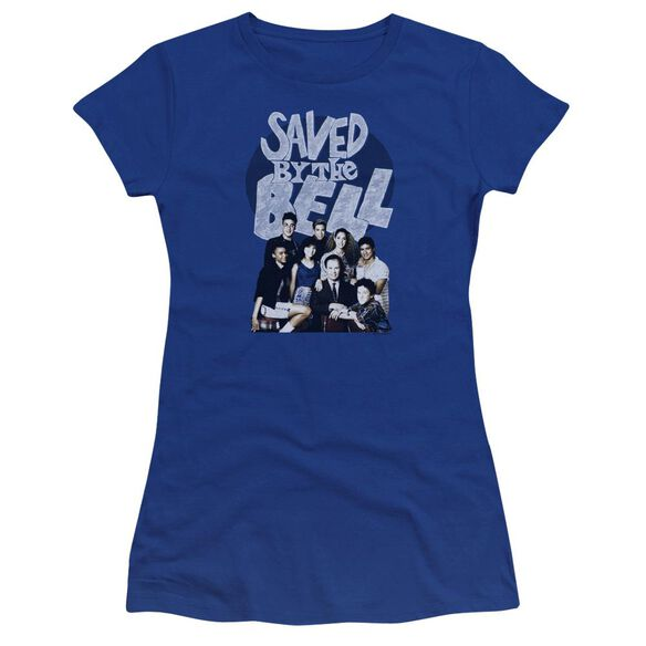 Saved By The Bell Retro Cast Premium Bella Junior Sheer Jersey Royal