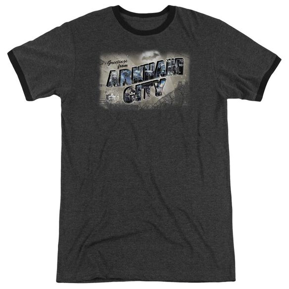 Arkham City Greetings From Arkham Adult Heather Ringer Charcoal