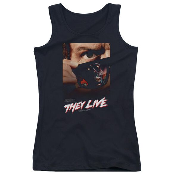 They Live Poster Juniors Tank Top