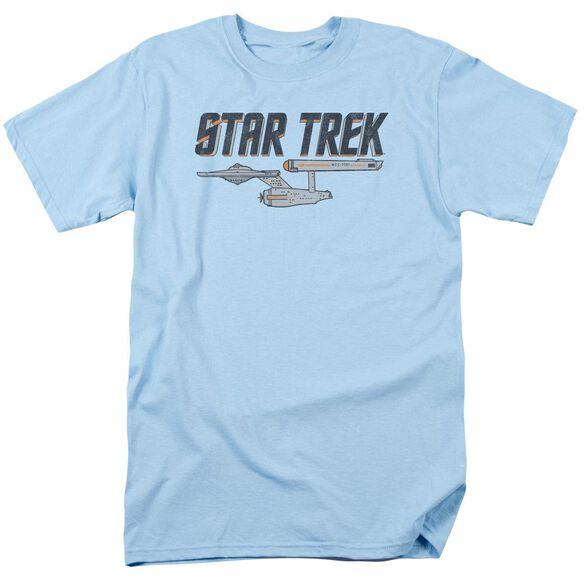 Star Trek Entreprise Logo Short Sleeve Adult Light T-Shirt