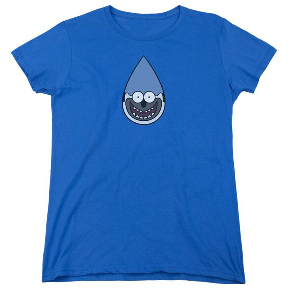 Regular Show Mordecai Short Sleeve Womens Tee Royal T-Shirt