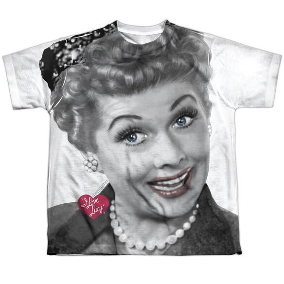 I Love Lucy Timeless Short Sleeve Youth Poly Crew T-Shirt