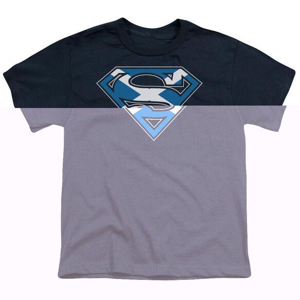 SUPERMAN SCOTTISH SHIELD - S/S YOUTH 18/1 - NAVY T-Shirt