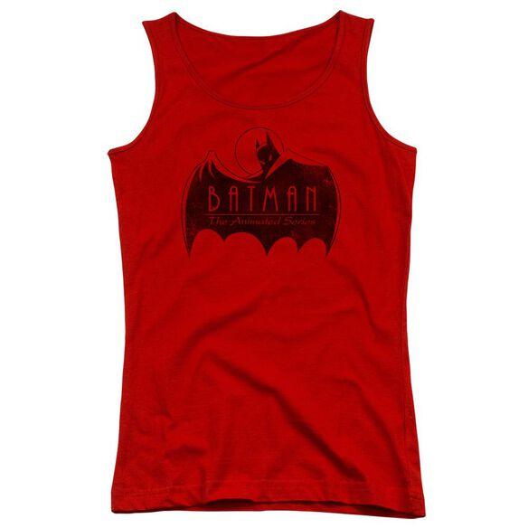 Batman The Animated Series One Color Logo Juniors Tank Top